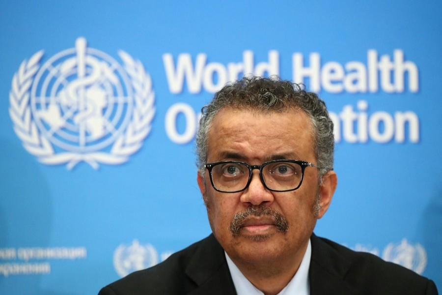 Director-General of the WHO Tedros Adhanom Ghebreyesus, attends a news conference on the coronavirus (COVID-2019) in Geneva, Switzerland, February 24, 2020. — Reuters/Files