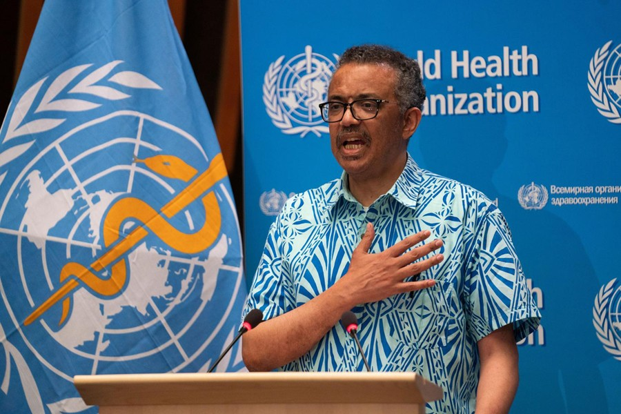 Tedros Adhanom Ghebreyesus, Director General of the World Health Organization (WHO) attends the virtual 73rd World Health Assembly (WHA) during the coronavirus disease (COVID-19) outbreak in Geneva, Switzerland on May 19, 2020 — WHO Handout via REUTERS