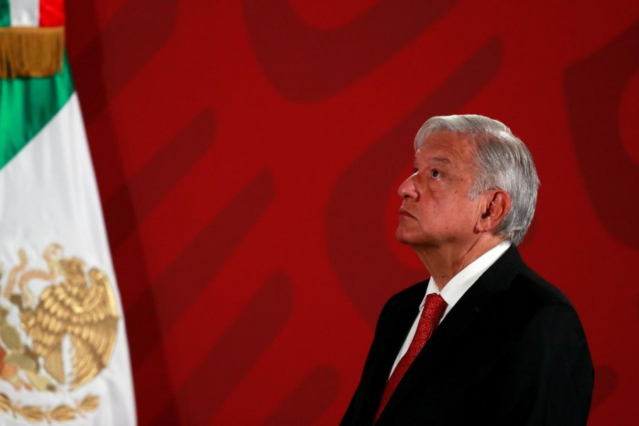 Mexico's President Andres Manuel Lopez Obrador holds a news conference at the National Palace in Mexico City, Mexico on March 17, 2020 — Reuters/Files
