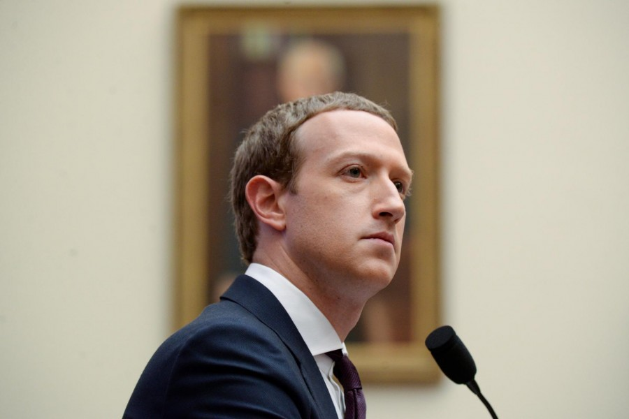 Facebook Chairman and CEO Mark Zuckerberg testifies at a House Financial Services Committee hearing in Washington, US on October 23, 2019 — Reuters/Files