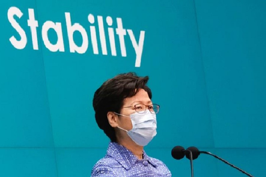 Hong Kong Chief Executive Carrie Lam speaks during a news conference in Hong Kong on May 26, 2020. — Reuters