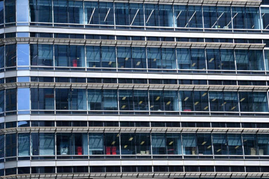 An office building in Canary Wharf, following the outbreak of the coronavirus disease (COVID-19), London, Britain, May 27, 2020. — Reuters