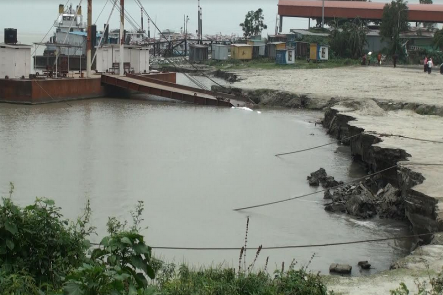 Paturia ferry terminal at risk as Padma River erodes