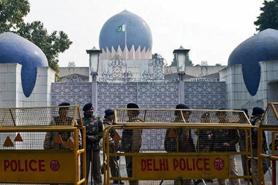 File photo of Pakistan embassy in New Delhi . (Collected)