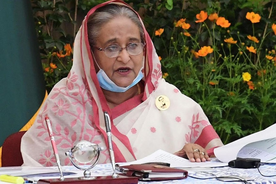 Prime Minister Sheikh Hasina. — BSS/Files