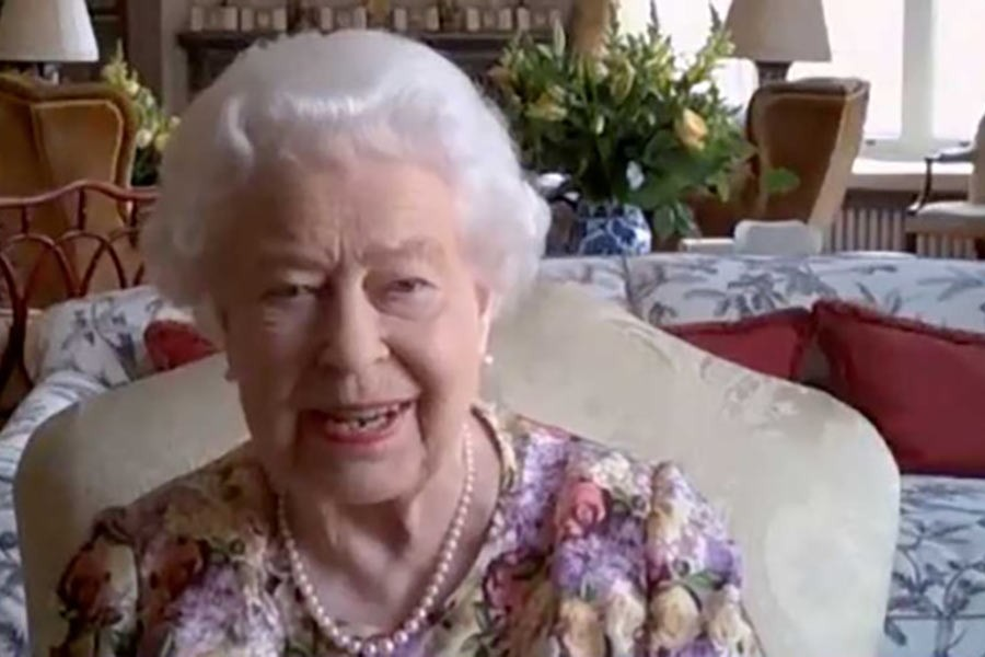 The Queen joins in her first Zoom call