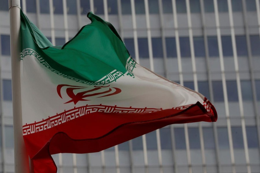 An Iranian flag flutters in front of the International Atomic Energy Agency (IAEA) headquarters in Vienna, Austria, September 09, 2019 — Reuters/Files