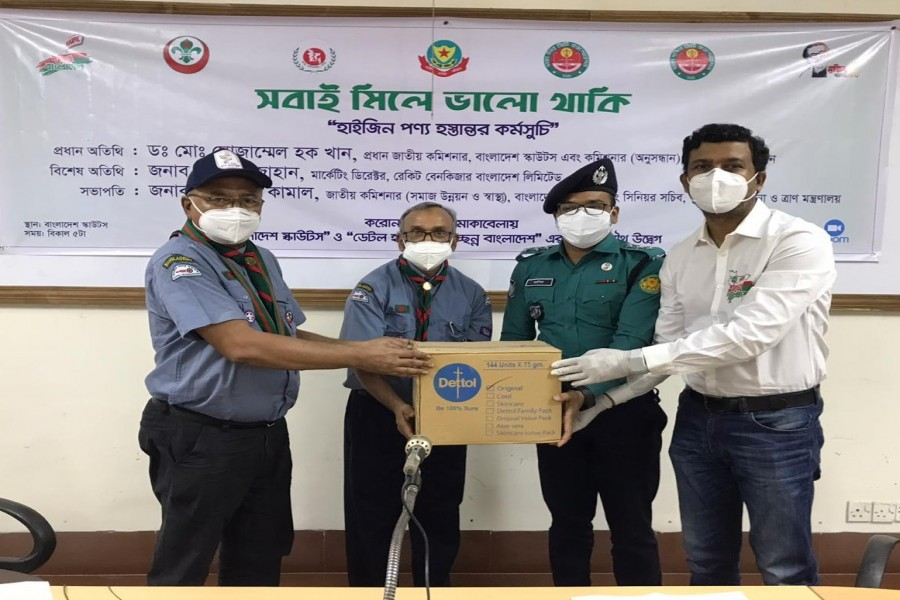 Dettol Harpic, Bangladesh Scouts donate hygiene products to frontline  activists