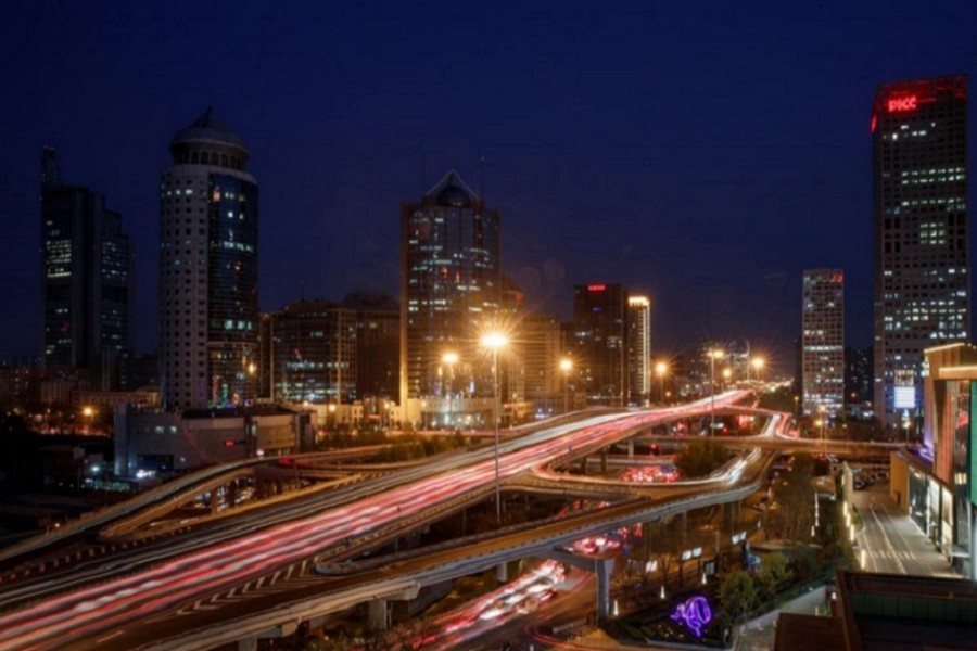 Representational image: Cars jam a major thoroughfare at evening rush hour in the Central Business District in Beijing, China, April 07, 2020 — Reuters