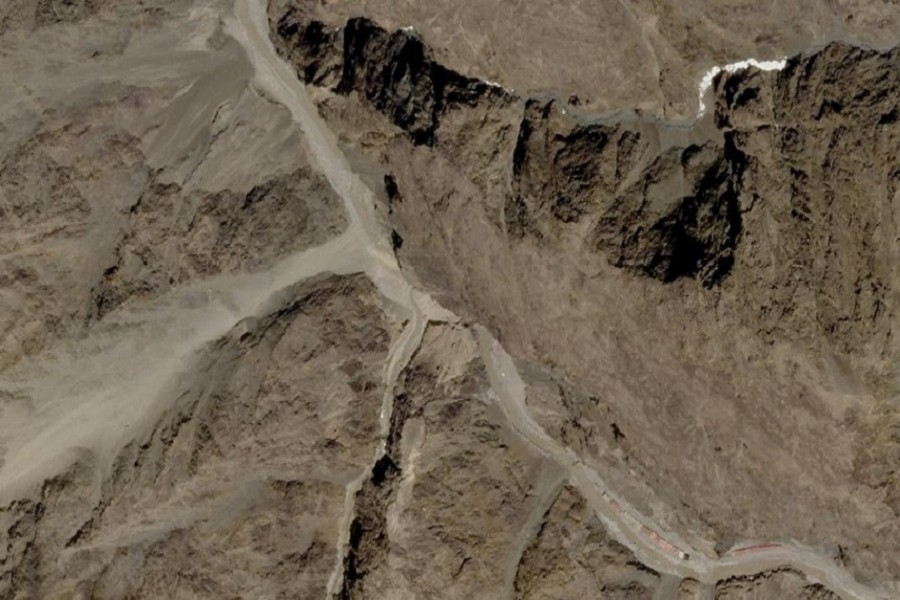 A satellite image of Galwan Valley in Ladakh, India, June 9, 2020 — Planet Labs Inc/Handout via Reuters