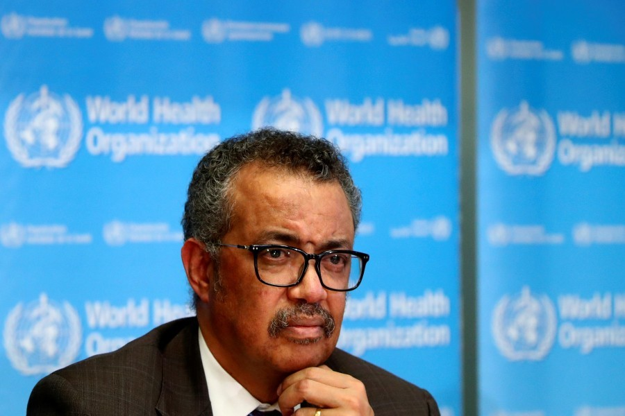 Director General of the World Health Organization (WHO) Tedros Adhanom Ghebreyesus attends a news conference on the situation of the coronavirus (Covid-2019), in Geneva, Switzerland, February 28, 2020 – Reuters/Files