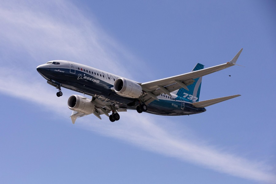 A Boeing 737 MAX airplane during a test flight in Seattle — Reuters photo