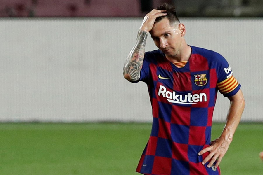 Barcelona's Lionel Messi reacts during clash against Atletico Madrid on Tuesday, June 30, 2020 — Reuters photo