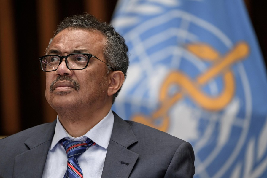 World Health Organization (WHO) Director-General Tedros Adhanom Ghebreyesus attends a news conference organized by Geneva Association of United Nations Correspondents (ACANU) amid the COVID-19 outbreak, caused by the novel coronavirus, at the WHO headquarters in Geneva Switzerland on July 3, 2020 — Reuters/Files