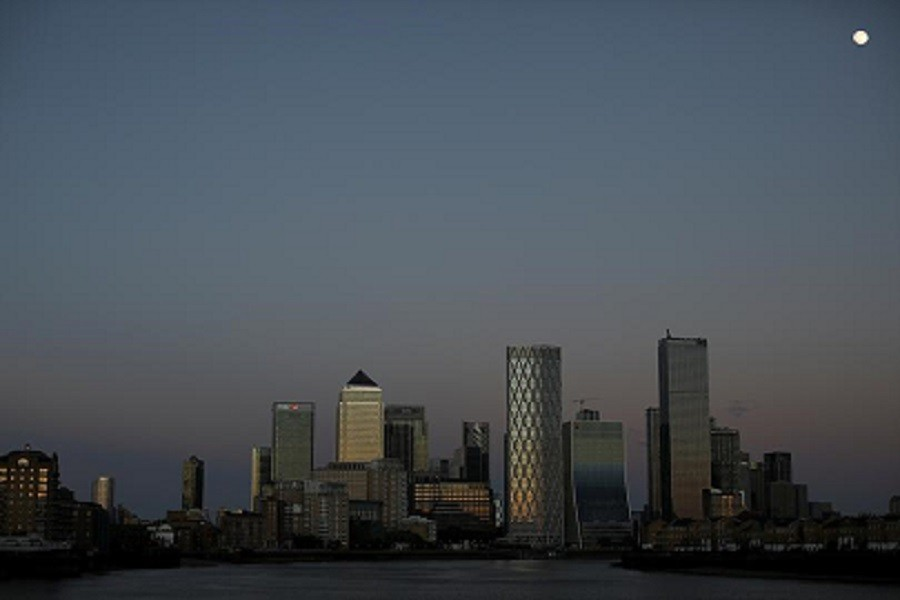 General view of the Canary Wharf financial district, following the outbreak of the coronavirus disease (Covid-19), in London, Britain, May 05, 2020 — Reuters/Files