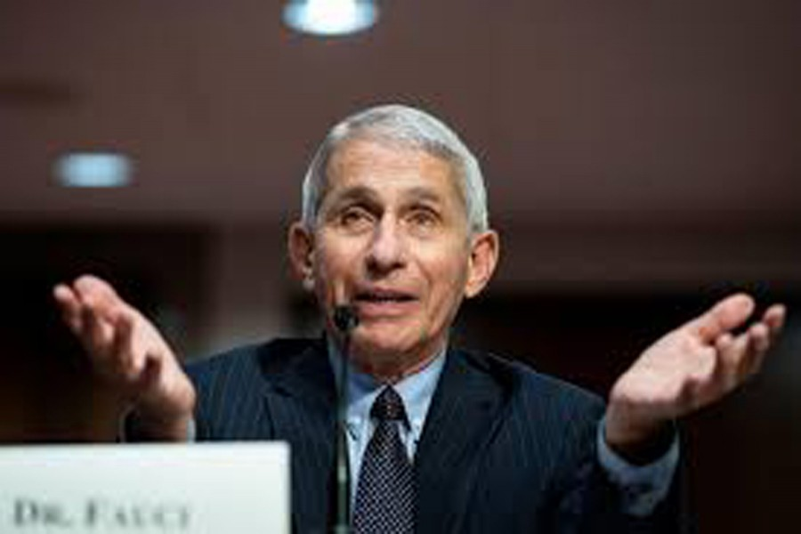 FILE PHOTO: Anthony Fauci, director of the National Institute of Allergy and Infectious Diseases, speaks during a Senate Health, Education, Labor and Pensions Committee hearing on efforts to get back to work and school during the coronavirus disease (COVID-19) outbreak, in Washington, D.C., US June 30, 2020. Al Drago/Pool via REUTERS