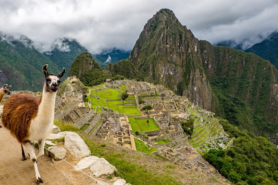 Machu Picchu in Peru, the centerpiece of the Inca civilisation