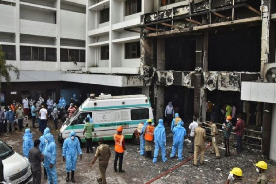 Fire at Covid facility in India kills at least 10