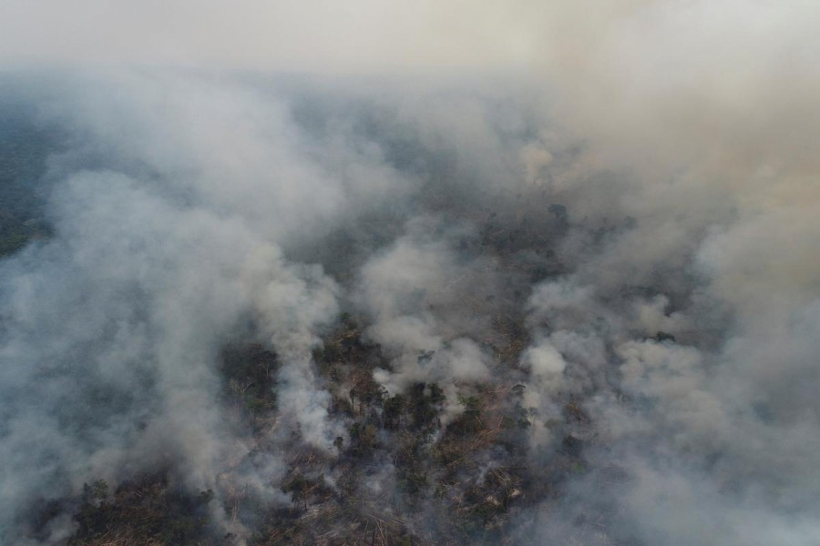 Smoke billows from a fire in an area of the Amazon jungle which burns as it is cleared by loggers and farmers near Apui, Amazonas State, Brazil on August 12, 2020 — Reuters photo