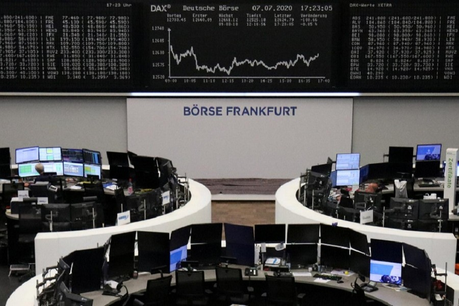 The German share price index DAX graph is pictured at the stock exchange in Frankfurt, Germany, July 07, 2020 — Reuters/Files