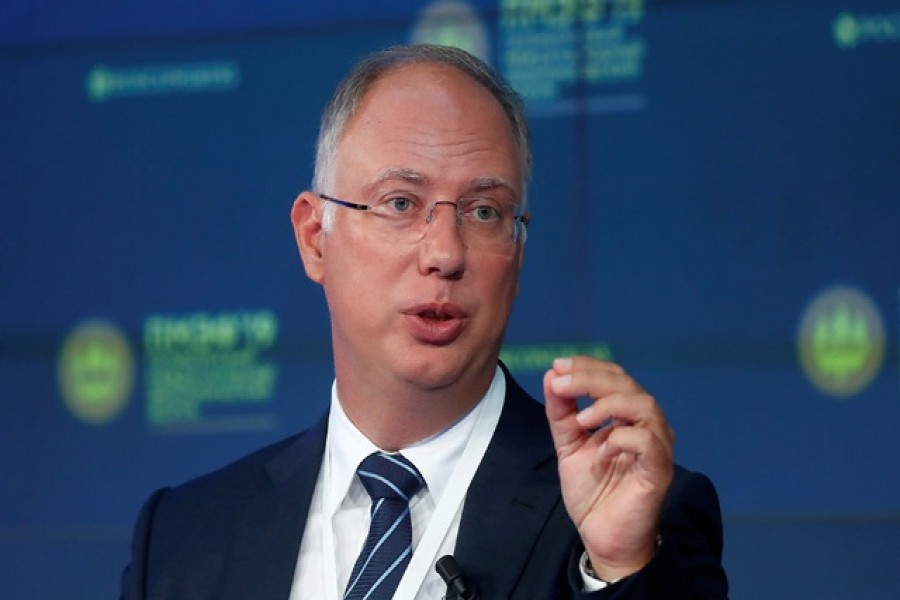 Chief Executive of the Russian Direct Investment Fund, Kirill Dmitriev, attends a session of the St. Petersburg International Economic Forum (SPIEF), Russia, June 7, 2019. Reuters