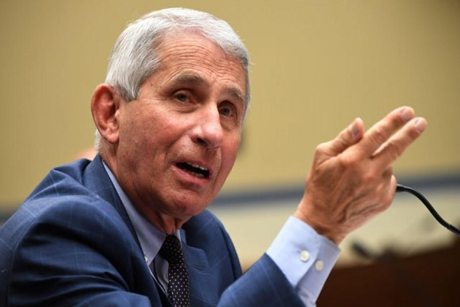 Dr Anthony Fauci, director of the National Institute for Allergy and Infectious Diseases, testifies during the House Select Subcommittee on the Coronavirus Crisis hearing in Washington, DC, US, July 31, 2020 —Reuters