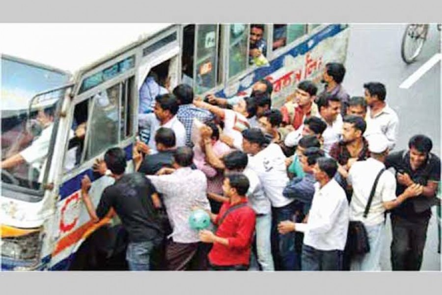 Return of chaos in  public buses