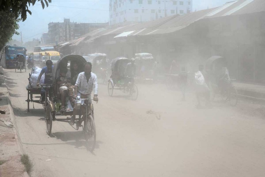 Air pollution causing hazards to local environment