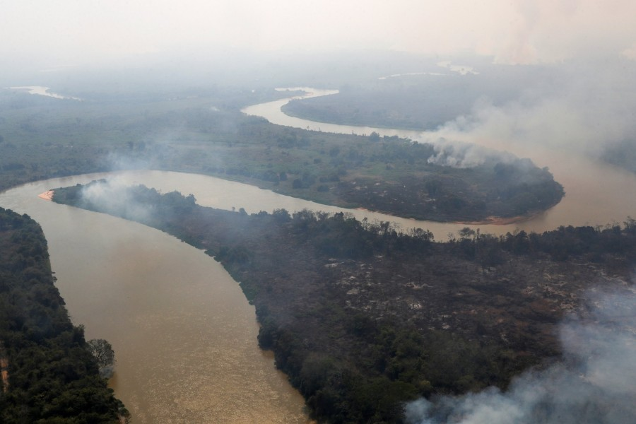 Brazil's Pantanal, world's largest wetland, burns from above and below