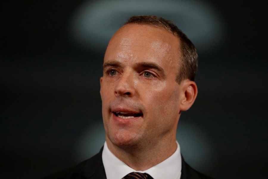 Britain's Foreign Secretary Dominic Raab seen in this undated Reuters photo