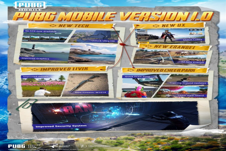 PUBG MOBILE 1.0 update delivers expansive gameplay enhancements