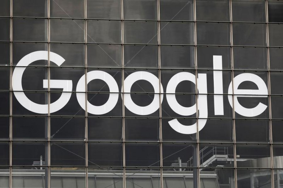The logo of Google is seen on a building at la Defense business and financial district in Courbevoie near Paris, France on September 1, 2020 — Reuters/Files