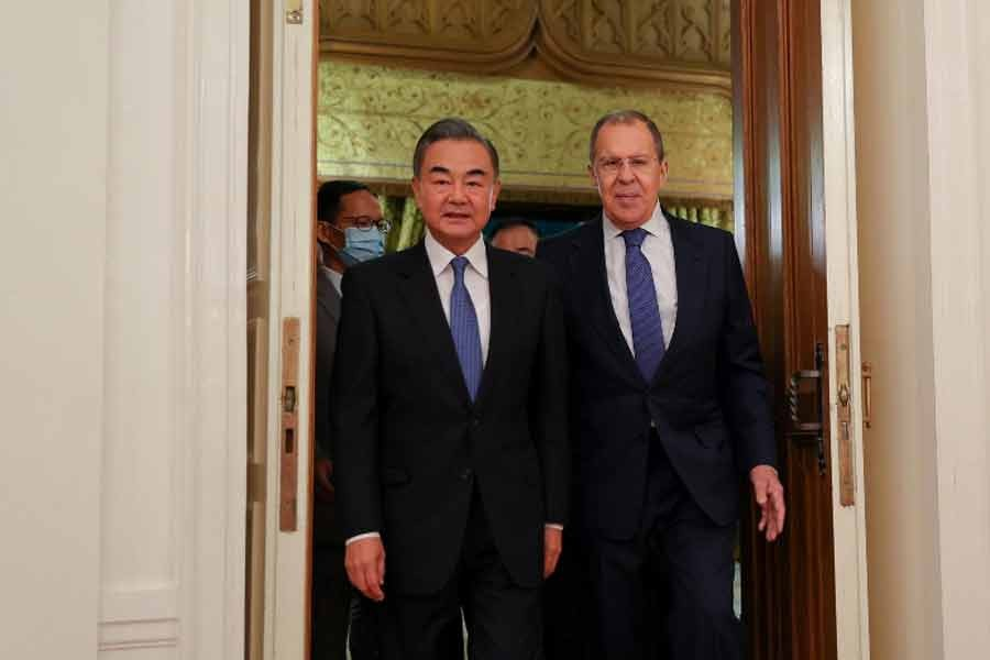 Chinese Foreign Minister Wang Yi and his Russian counterpart Sergei Lavrov
