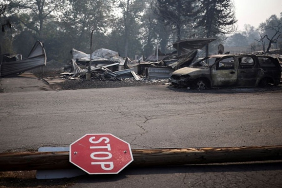 Search on for survivors as wildfires torch millions of acres in US