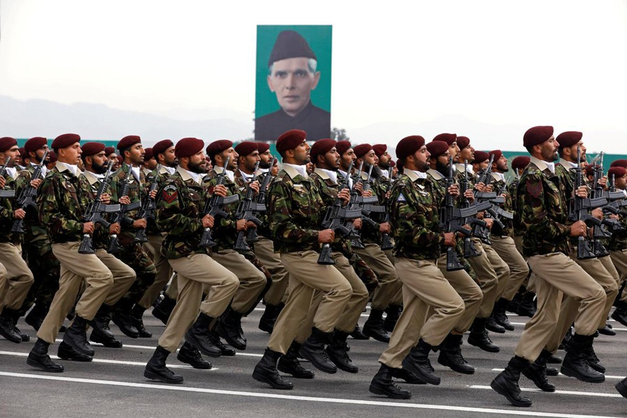 Commandos from the Special Services Group (SSG) march during Pakistan Day military parade in Islamabad, Pakistan on March 23, 2019 — reuters/Files