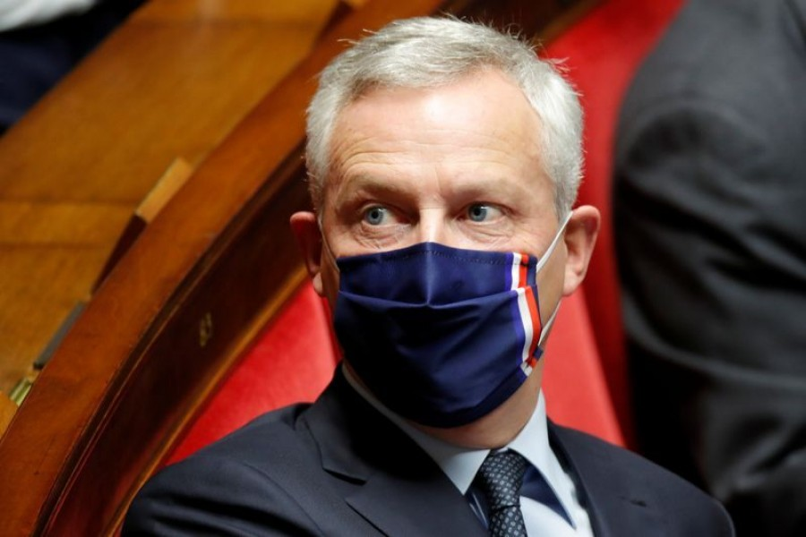 Bruno Le Maire, French Minister of the Economy, Finance, and Recovery, wearing a protective face mask, attends the questions to the government session at the National Assembly in Paris, France on September 15, 2020 — Reuters photo
