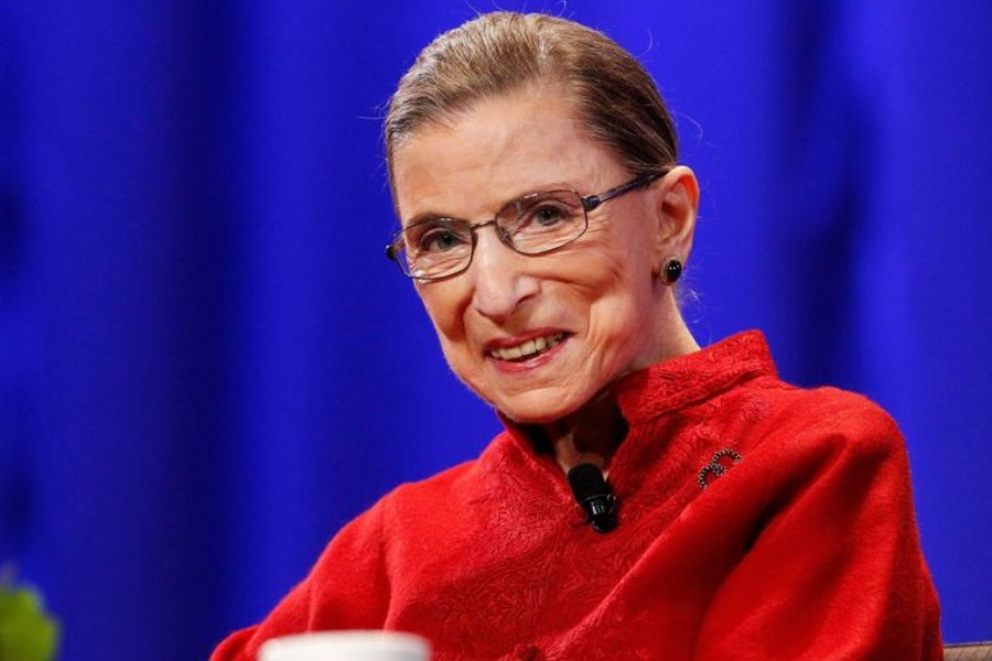 Justice Ruth Bader Ginsburg attends the lunch session of The Women's Conference in Long Beach, California October 26, 2010. REUTERS/Mario Anzuoni/File Photo