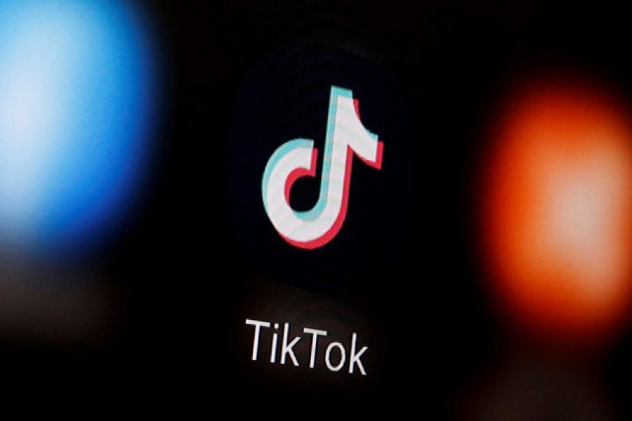 A TikTok logo is displayed on a smartphone in this illustration — Reuters/Files