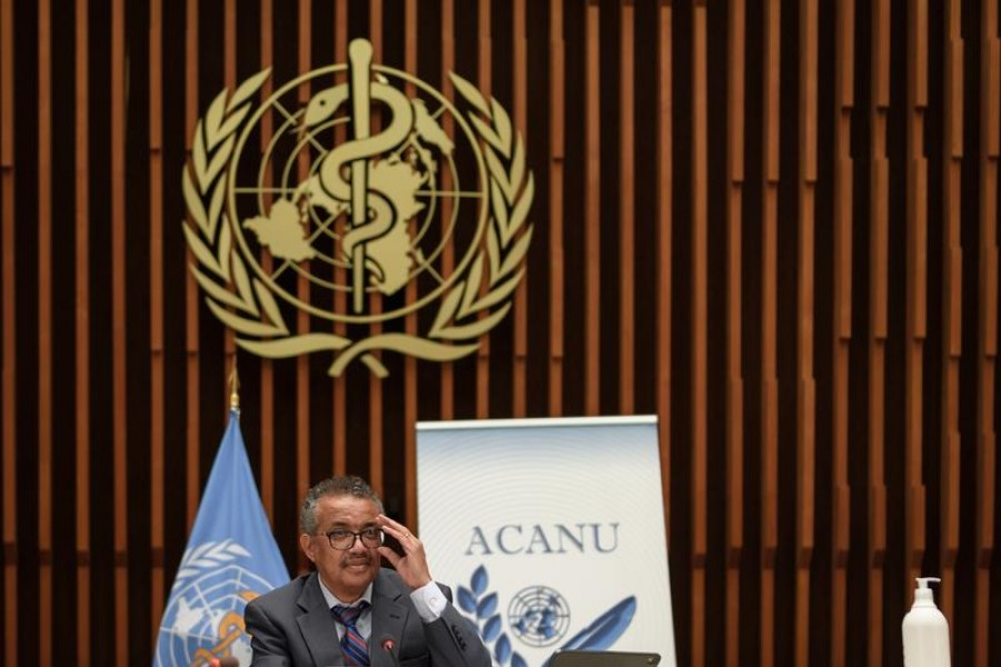 World Health Organization (WHO) Director-General Tedros Adhanom Ghebreyesus attends a news conference organized by Geneva Association of United Nations Correspondents (ACANU) amid the COVID-19 outbreak, at the WHO headquarters in Geneva Switzerland on July 3, 2020 — Fabrice Coffrini/Pool via REUTERS/Files