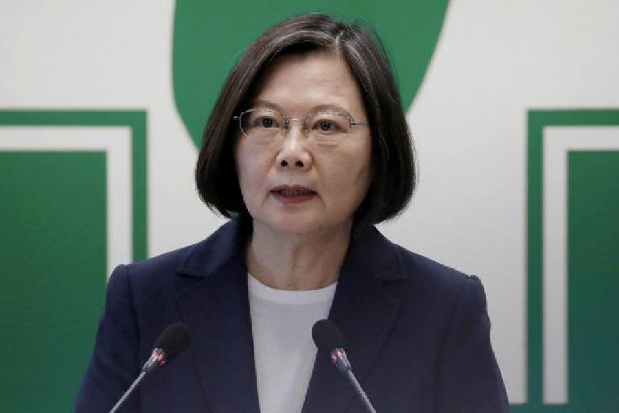 Taiwanese President Tsai Ing-wen speaks to the media in Taipei, Taiwan, August 12, 2020 — Reuters/Files