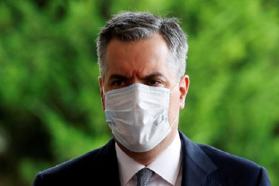 Newly appointed Lebanese Prime Minister Mustapha Adib wears a protective face mask as he arrives to attend a meeting with French President Emmanuel Macron at the presidential palace in Baabda, Lebanon, September 01, 2020 — Reuters/Files