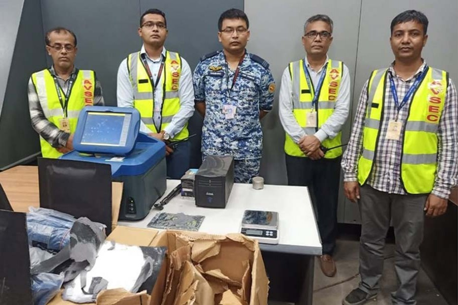 Dhaka customs officials in the second week of September seized over 15 kilogrammes of amphetamine powder from a flight of Biman at Hazrat Shahjalal International Airport in Dhaka – Collected Photo