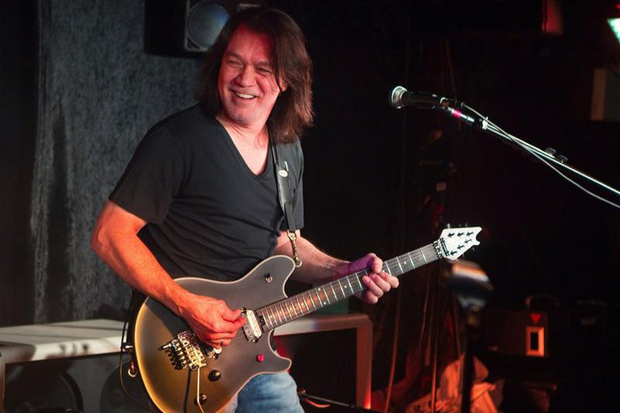 Guitarist Eddie Van Halen performs during a private Van Halen show to announce the band's upcoming tour at Cafe Wha? in New York on January 5, 2012 — Reuters/Files