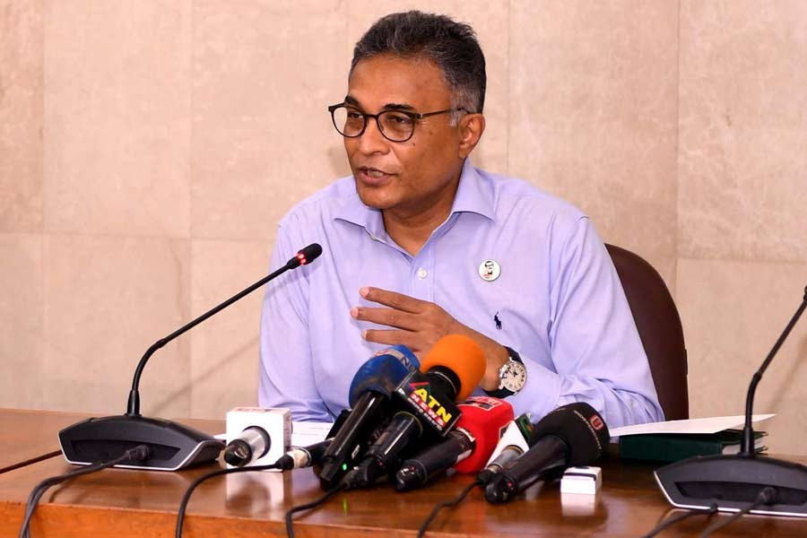 Prime Minister's Principal Secretary Dr Ahmad Kaikaus addressing a press briefing at the Prime Minister's Office (PMO) on Thursday -PID Photo