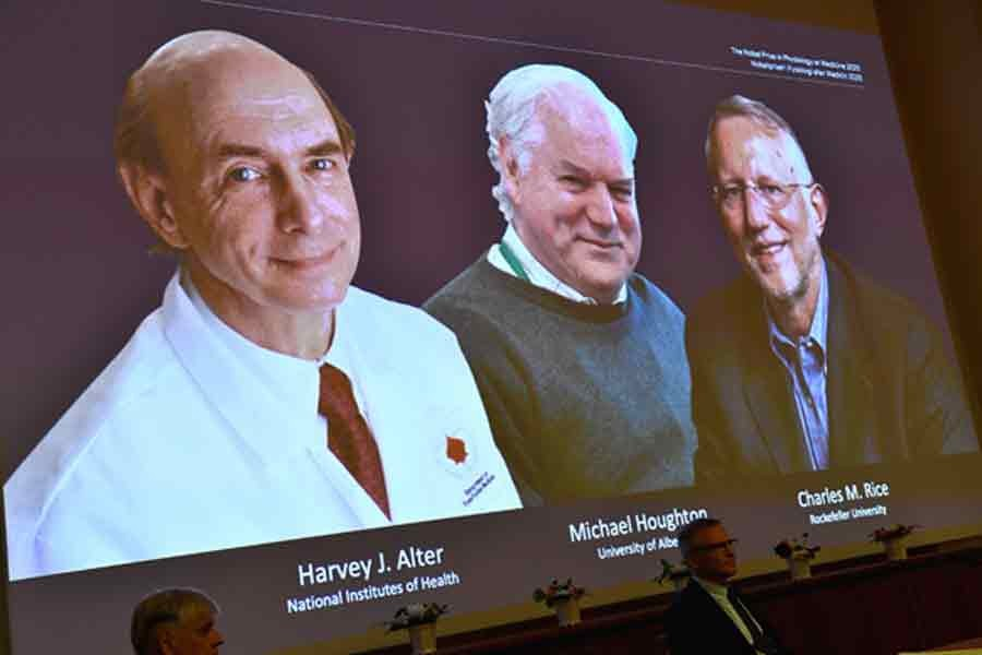 The winners of the 2020 Nobel Prize for Medicine —Reuters file photo