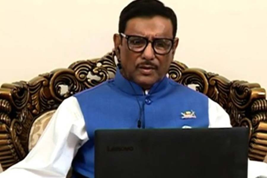 BNP's politics on life support now, Obaidul Quader says