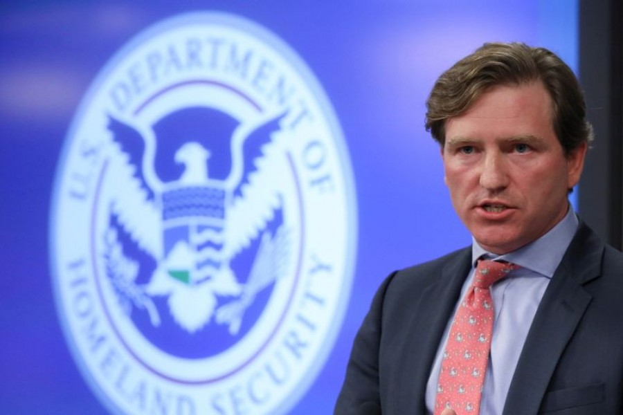US Department of Homeland Security Under Secretary Chris Krebs speaks to reporters at the DHS Election Operations Center and National Cybersecurity and Communications Integration Center (NCCIC) in Arlington, Virginia, US, November 6, 2018. REUTERS/Jonathan Ernst/File Photo