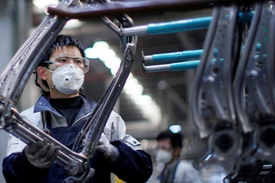Strong consumer demand is helping Chinese manufacturers recover to nearly pre-pandemic levels [File: Aly Song/Reuters]