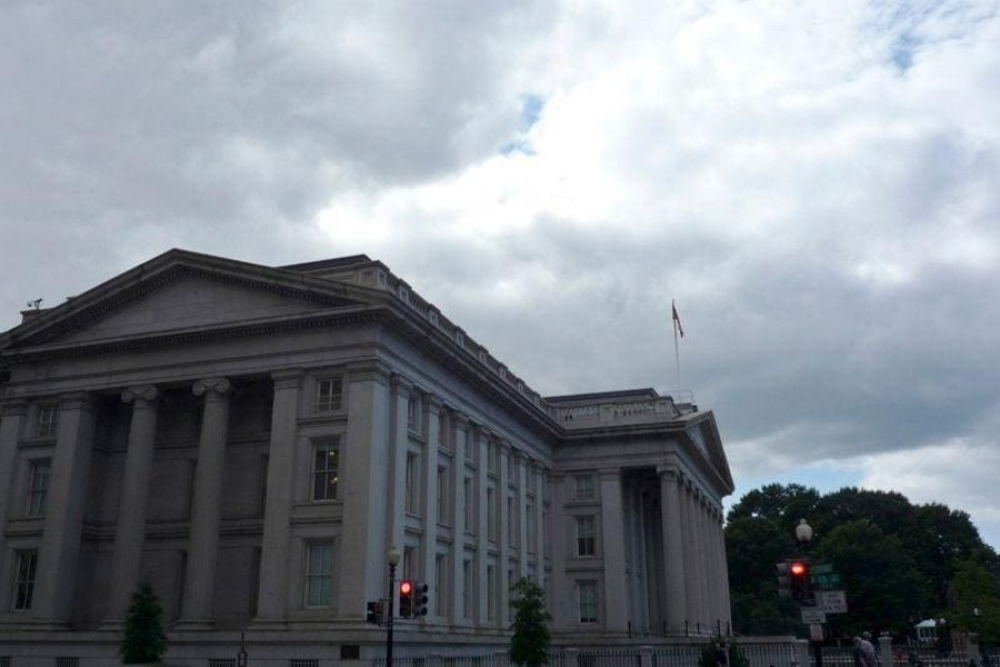 The US Treasury building is seen in Washington, September on 29, 2008 — Reuters/Files