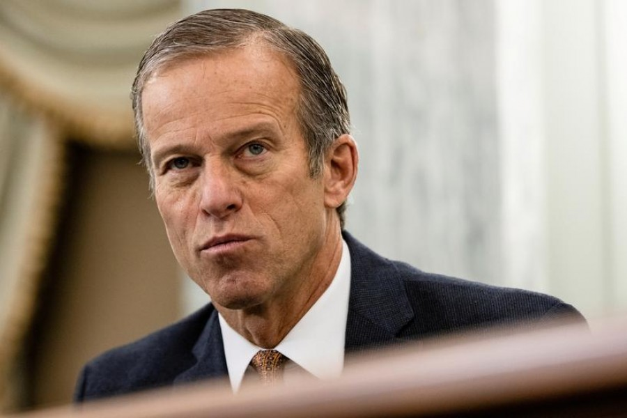 US Senator John Thune (R-S.D.) speaks during a Senate Commerce, Science, and Transportation Subcommittee hearing on Capitol Hill, in Washington, D.C., US on December 10, 2020 — Pool via REUTERS